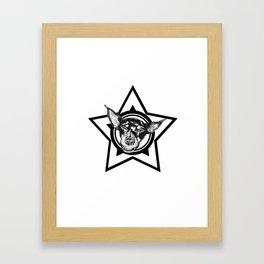 Tyson (black & white) Framed Art Print