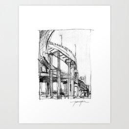 Bridge Underside Art Print