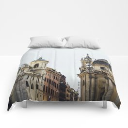Piazza Del Popolo Rome Comforters