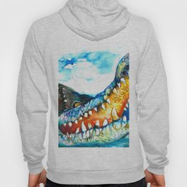 Crocodile Watercolor Painting Hoody