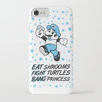 super mario iPhone & iPod Cases featuring super mario by POYCE