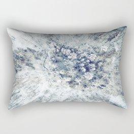 AERIAL. Frozen forest in winter Rectangular Pillow