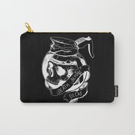 Death before decaf black Carry-All Pouch
