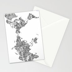 Passport Stamp Map 1 Stationery Cards