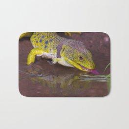 The ocellated lizard Bath Mat