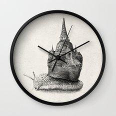 The Snail's Dream (monochrome option) Wall Clock
