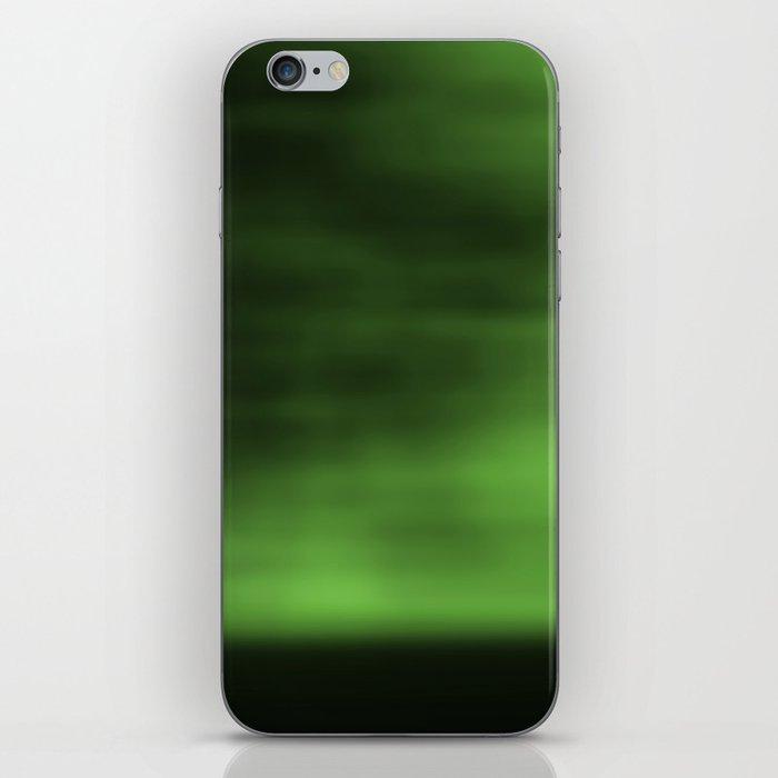 Blurred Sky-Green iPhone Skin