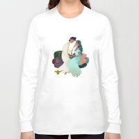 aladdin Long Sleeve T-shirts featuring Aladdin Wedding by Kathryn Hudson Illustrations