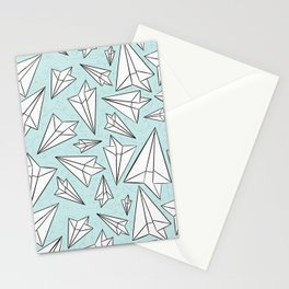 Paper Airplanes Mint Stationery Cards