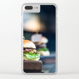 Freshly Grilled Burgers Clear iPhone Case