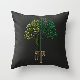 Technology Tree Throw Pillow