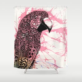 Parrot Colour Splash Shower Curtain