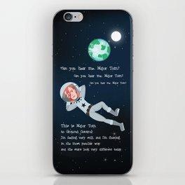 Bowie - Goodbye Major Tom iPhone Skin