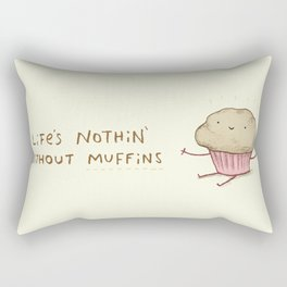 Life's Nothin' Without Muffins Rectangular Pillow