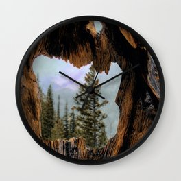 Look Into The Heart Wall Clock