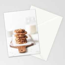 Morning Breakfast Energy Biscuit Cookies With Oats and Peanut Butter, Food Photography, Natural Light Stationery Cards