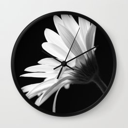 Flower BW Wall Clock