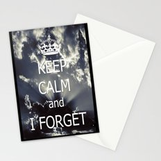 Keep Calm and I forget... Stationery Cards