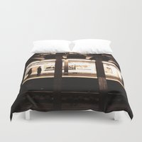 jewish Duvet Covers featuring Rush Hour by Brown Eyed Lady