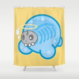 Tamanee Bubble Ghost Shower Curtain