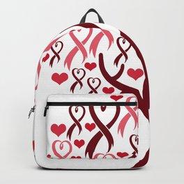 Blossoming Awareness Ribbon Heart Tree Backpack