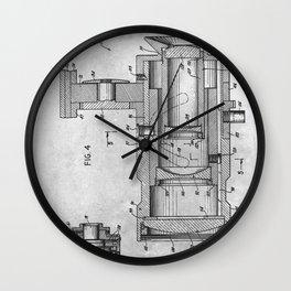 1955 Lens for movie cameras Wall Clock