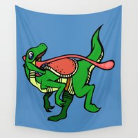 dino Wall Tapestries featuring Dino Mount by Artistic Dyslexia