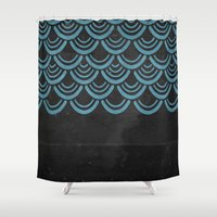 scales Shower Curtains featuring Scales  by Last Call