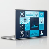 jaws Laptop & iPad Skins featuring Jaws! by tim weakland