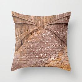 Acrylic Sepia Bridge Throw Pillow