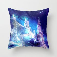 Starry Ice Throw Pillow