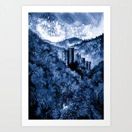 Fugue Bleue Art Print