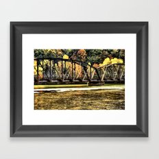 West VA Train Bridge Framed Art Print