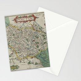 Vintage Map - Ortelius: Theatrum Orbis Terrarum (1606) - Poitou, France Stationery Cards