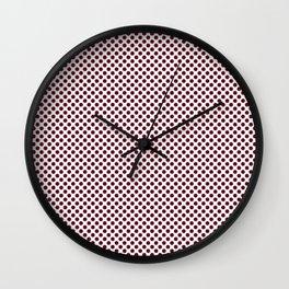 Garnet Polka Dots Wall Clock