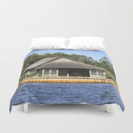 Horsey mere thatched cottage Duvet Cover