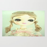 doll Area & Throw Rugs featuring DOLL  by Vintage  Cuteness