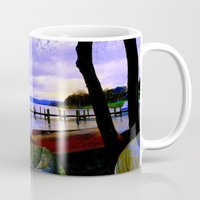 boats Mugs featuring Boats by Esther Soendergaard