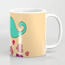 Ghost love, extraordinary feelings, sweet and romantic illustration Coffee Mug