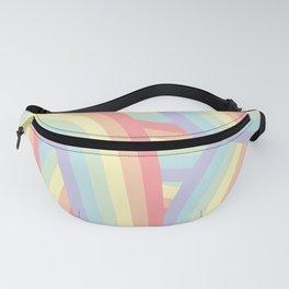 Soft Pastel Rainbow Stripes Pattern Fanny Pack