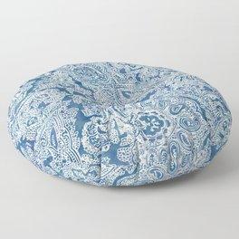Blue Boho Paisley Pattern Floor Pillow