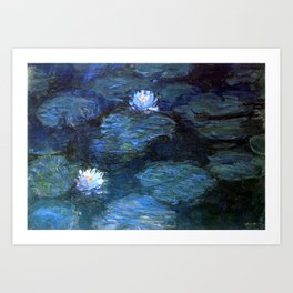 Water Lilies Dark Blue Claude Monet 1899 Kunstdrucke