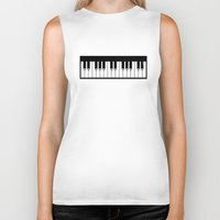 piano Biker Tanks featuring Piano by Beitebe