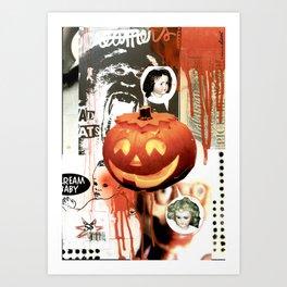 COLLAGE: Halloween Art Print