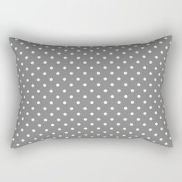 Dots (White/Gray) Rectangular Pillow