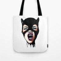 scream Tote Bags featuring Scream by Bella Harris