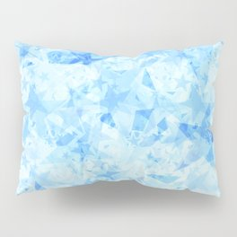 Pastel sky stars on a light background in the projection. Pillow Sham