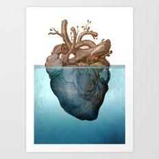 Anatomy of loneliness Art Print