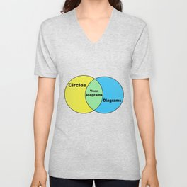 Venn Diagram Pun Unisex V-Neck