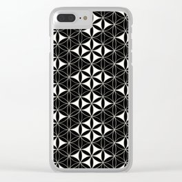 Flower of Life Pattern 12 Clear iPhone Case